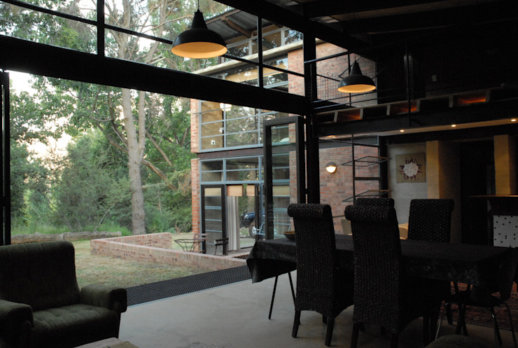 Forest Edge Guest House, Clarens Industrial style dining room by Reinier Brönn Architects & Associates Industrial