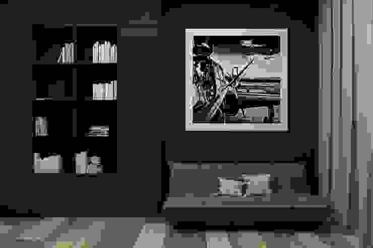 Polka architecture studio Ruang Studi/Kantor Minimalis