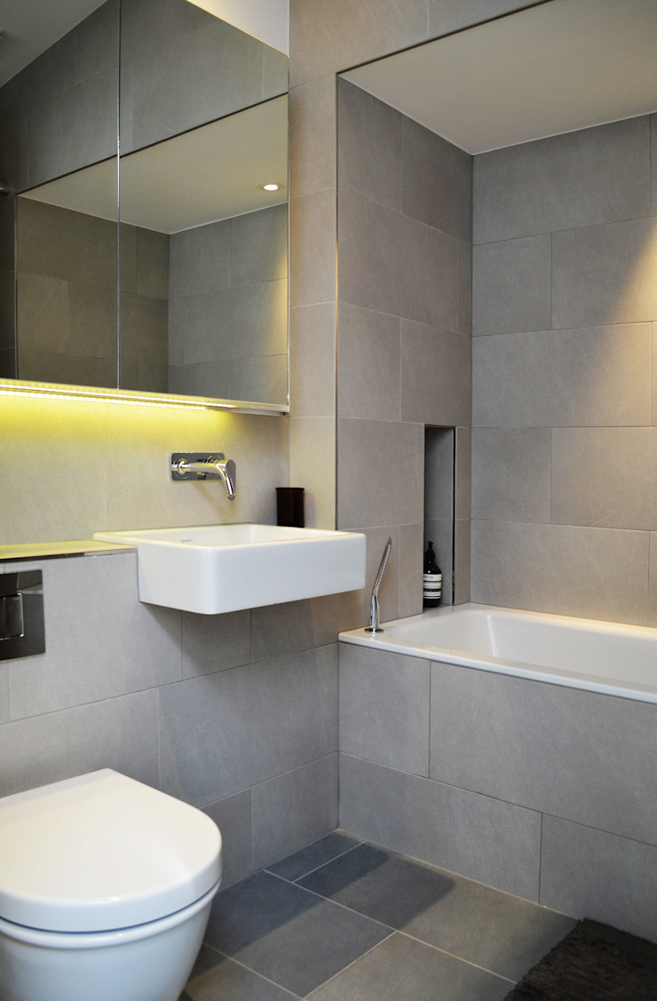 South Hill Park Belsize Architects Modern bathroom