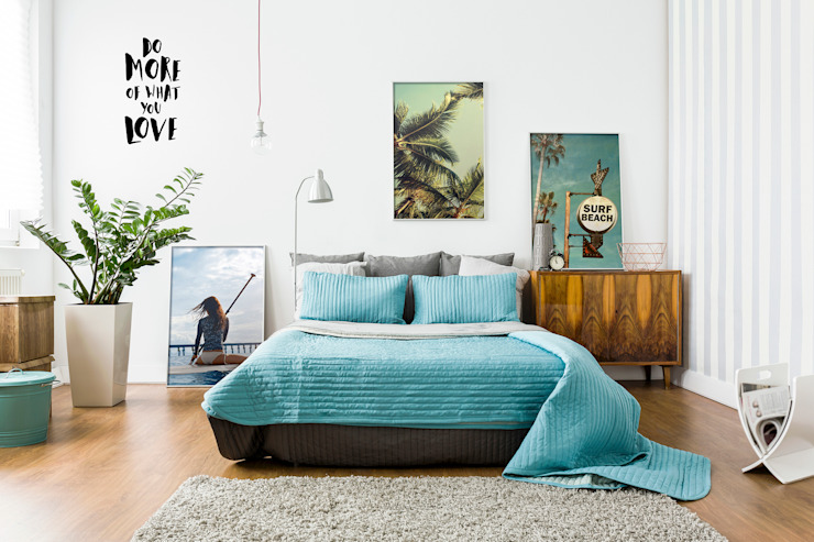 Let's Surf Pixers Eclectic style bedroom Multicolored