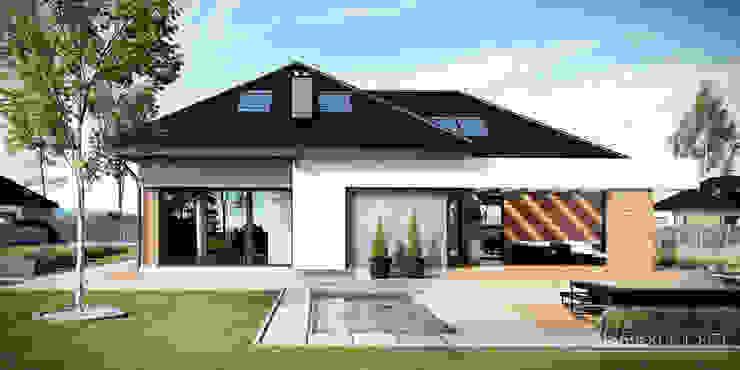 Projekt domu HomeKONCEPT-29: styl , w kategorii  zaprojektowany przez HomeKONCEPT | Projekty Domów Nowoczesnych