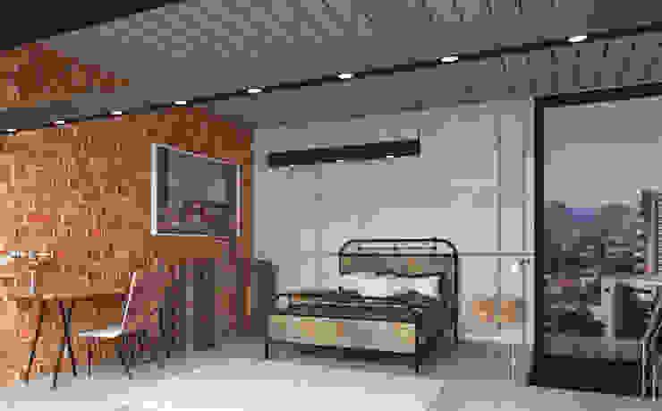 Teia Archdecor Dormitorios de estilo industrial