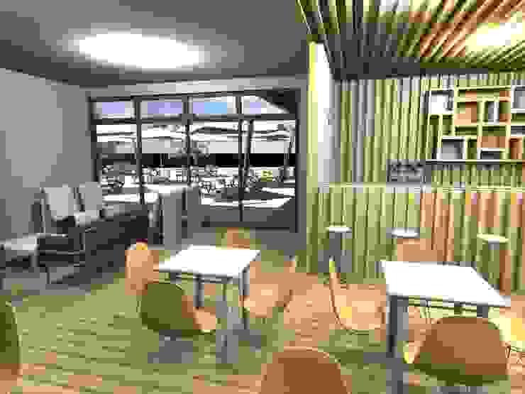 Restaurante – Bar <q>Meet You</q> Espaços de restauração modernos por Traço M - Arquitectura Moderno