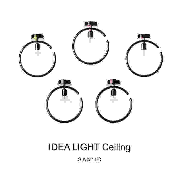 IDEA LIGHT Ceiling 모던스타일 복도, 현관 & 계단 by SANUC 모던 금속