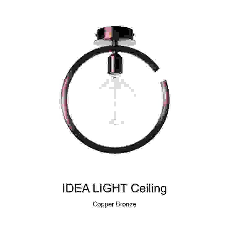 IDEA LIGHT Ceiling_Copper Bronze: SANUC의 현대 ,모던 금속