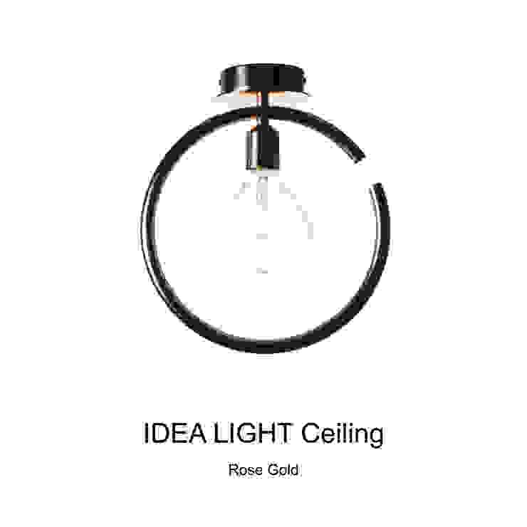 IDEA LIGHT Ceiling_Rose Gold: SANUC의 현대 ,모던 금속