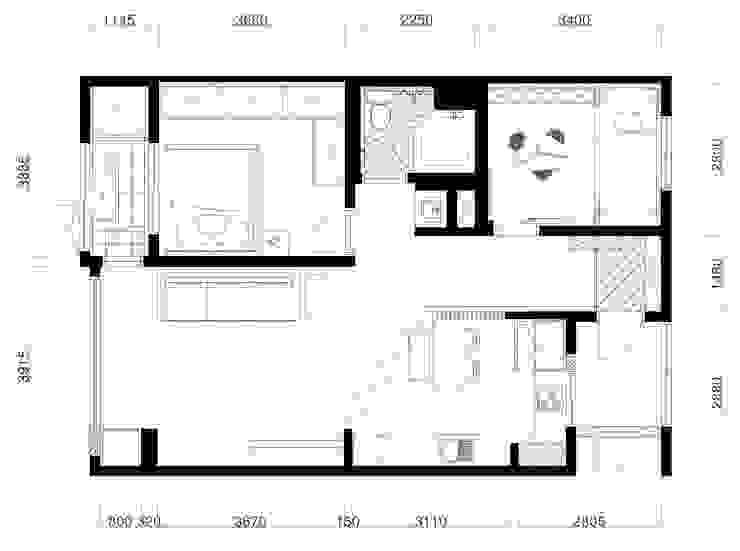 아기자기함이 고스란히 녹아들어온 목동13단지 남매둥이네 27평 인테리어: 퍼스트애비뉴의 미니멀리스트 ,미니멀