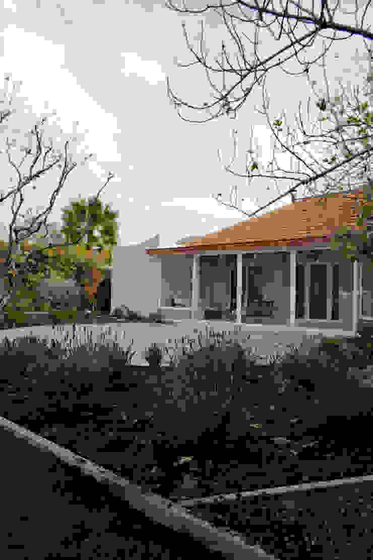 Mediterranean style garden by ESTUDIO BASE ARQUITECTOS Mediterranean Concrete