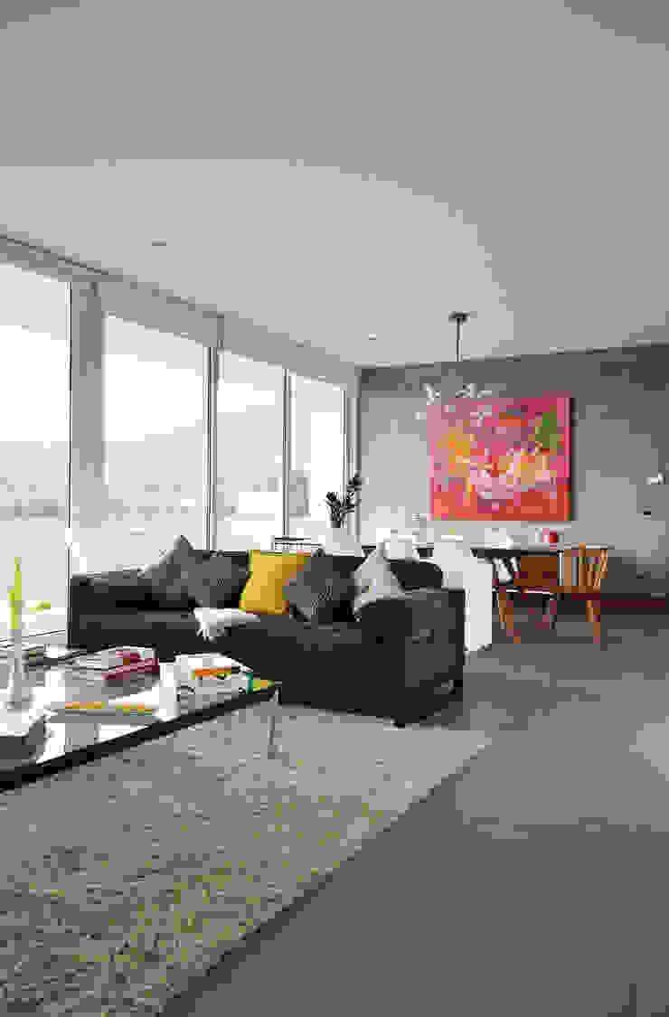 ESTUDIO BASE ARQUITECTOS Scandinavian style living room