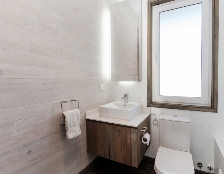 ESTUDIO BASE ARQUITECTOS Rustic style bathroom Wood
