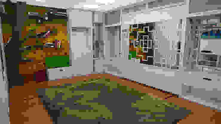 Apartamento pequeño con espacios Multifuncionales Rbritointeriorismo Cuartos de estilo moderno