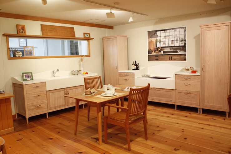 家具SHOP バーズ & 工房ボーボワ 廚房洗手台與水龍頭 木頭