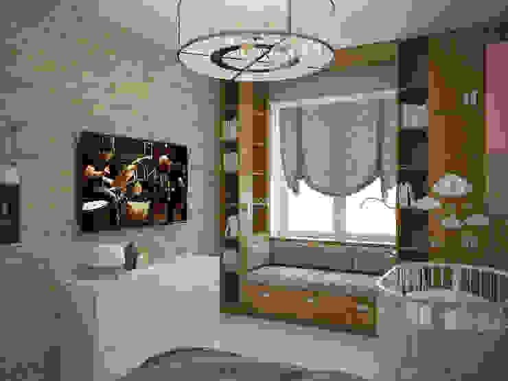 Scandinavian style bedroom by Студия дизайна Марии Губиной Scandinavian