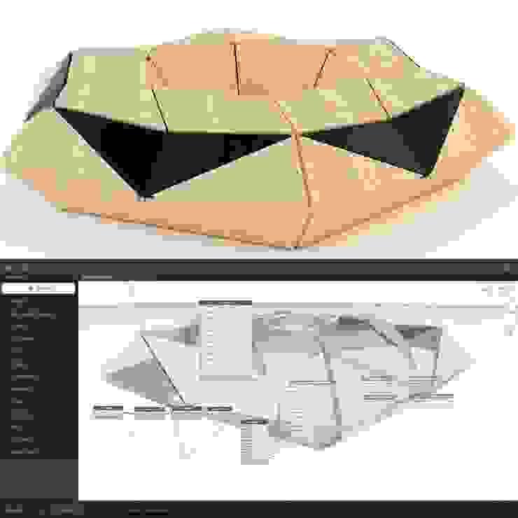 Banca hexagonal modelo 001 de GZ2 Arquitectura Moderno Madera Acabado en madera