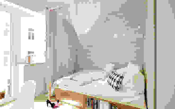 Dormitorios de estilo escandinavo de Krystyna Regulska Architektura Wnętrz Escandinavo