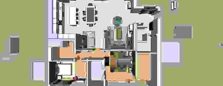 Apartamento planta 3D por Atelier Ana Leonor Rocha