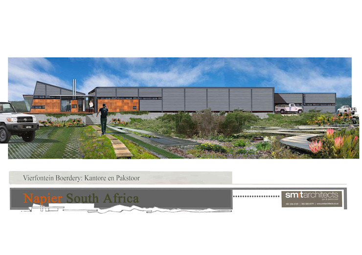 Wine Estate, Blueberry packing facility with offices by Smit Architects Industrial