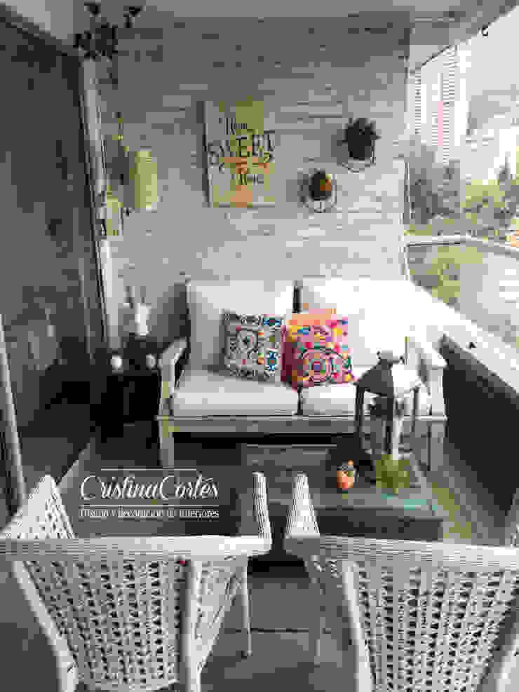 Cristina Cortés Diseño y Decoración Balconies, verandas & terraces Accessories & decoration
