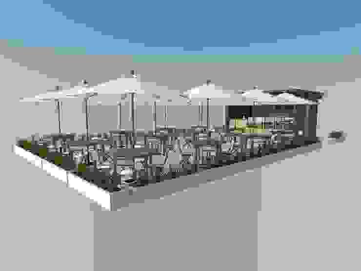 Area de Cafe de Atahualpa 3D Tropical Madera Acabado en madera