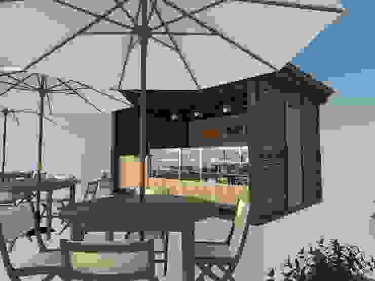 Mesa y Kiosco de Atahualpa 3D Tropical Madera Acabado en madera