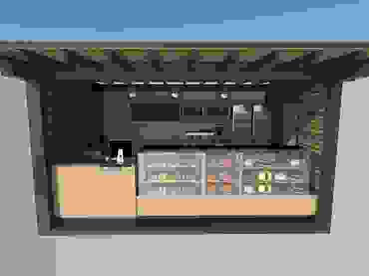 Kiosco de Atahualpa 3D Tropical Madera Acabado en madera