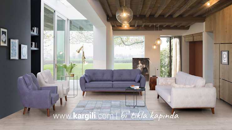 Anemon Modern Koltuk Takımı Kargılı Ev Mobilyaları Oturma OdasıKanepe & Koltuklar