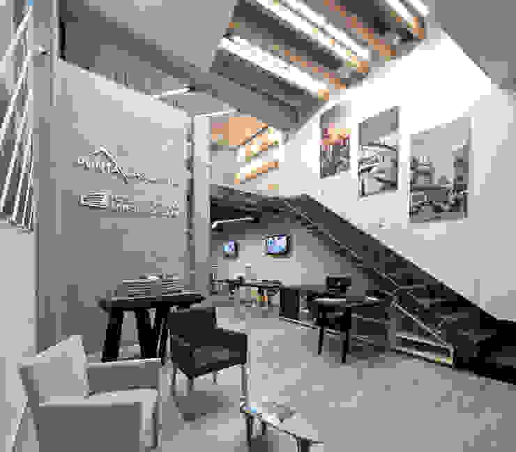 Showroom Punta Cascatta - Recepción de MX Taller de Arquitectura & Diseño Moderno Concreto