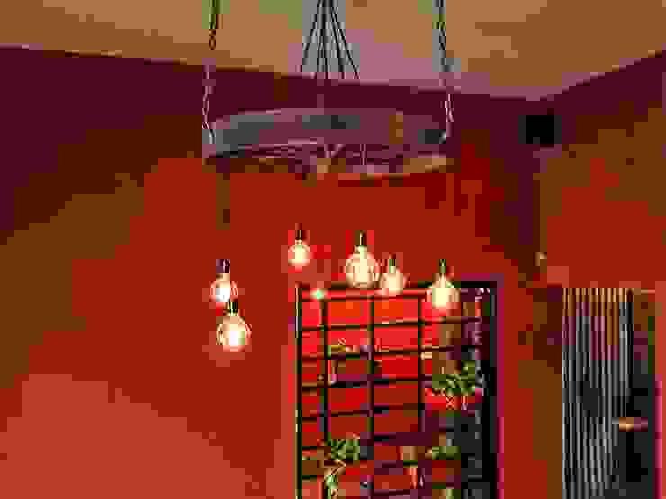 LAMPARA COLGANTE ESTILO INDUSTRIAL FOCOS EDISON:  de estilo industrial por Lamparas Vintage Vieja Eddie,Industrial