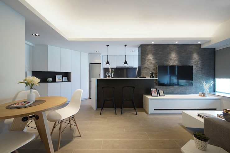 Shared contemporary home for grown-up brother and sister by Zip Interiors Ltd