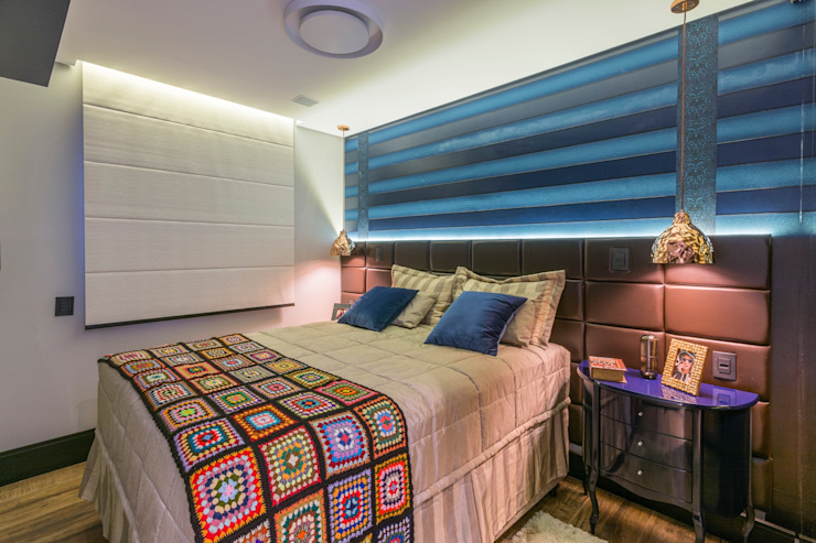 Lo. interiores Eclectic style bedroom
