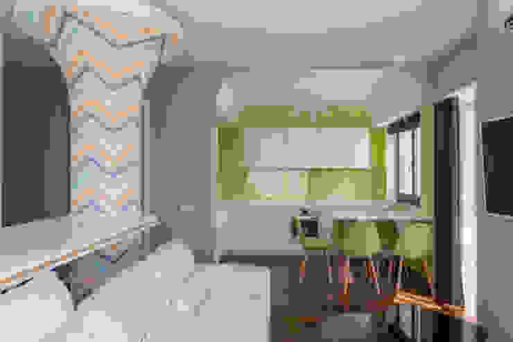 Bellarte interior studio 廚房 Yellow