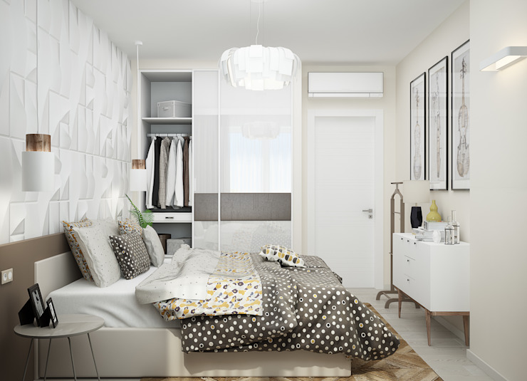 Eclectic style bedroom by Студия дизайна Дарьи Одарюк Eclectic