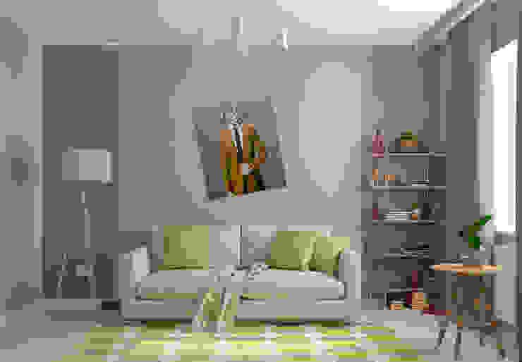 """Гостевая """"Renaissance Man"""": Гостиная в . Автор – Студия дизайна Дарьи Одарюк"""