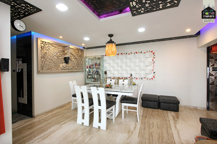 Dining room by home makers interior designers & decorators pvt. ltd.