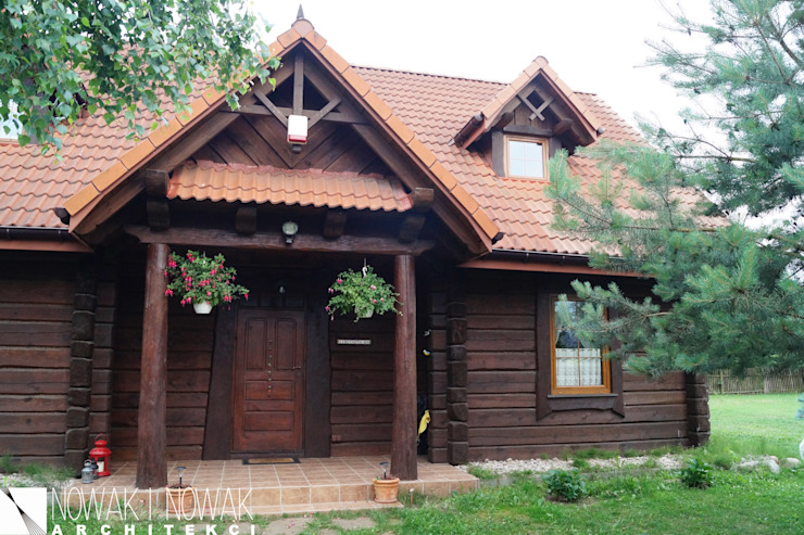 Nowak i Nowak Architekci Country style houses Wood