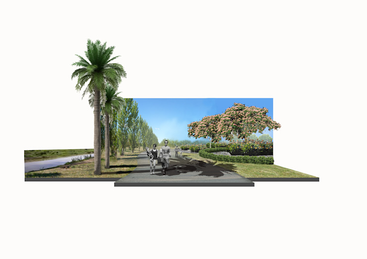 senderos para ciclismo Jardines clásicos de BAIRES GREEN Clásico