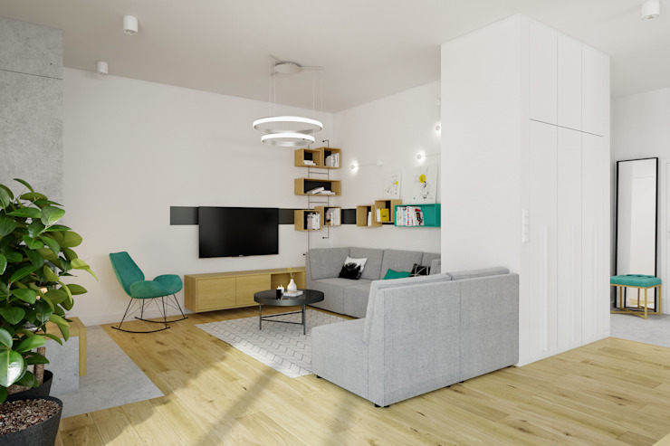 Modern living room by INSIDEarch Modern