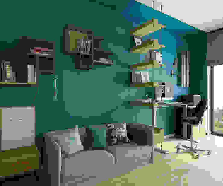 mieszkanie w Powsinie 140mkw: styl , w kategorii Domowe biuro i gabinet zaprojektowany przez INSIDEarch,Nowoczesny