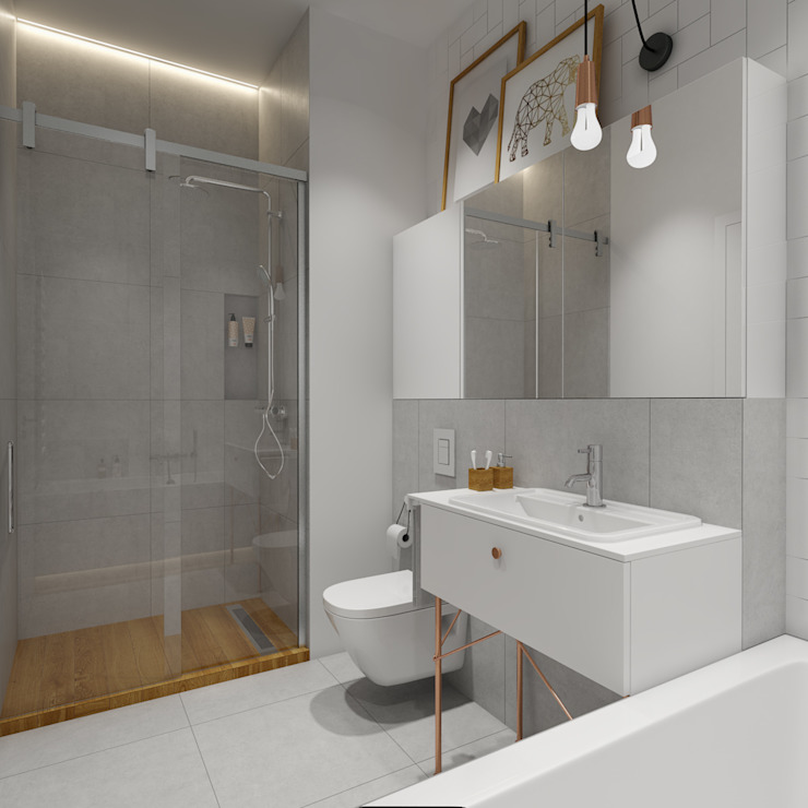 Bathroom by INSIDEarch, Scandinavian