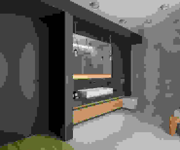 dom jednorodzinny 220 mkw Nowoczesna łazienka od INSIDEarch Nowoczesny