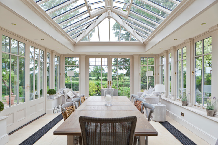 Interesting Orangery with Dentil Moulding:  Conservatory by Vale Garden Houses,
