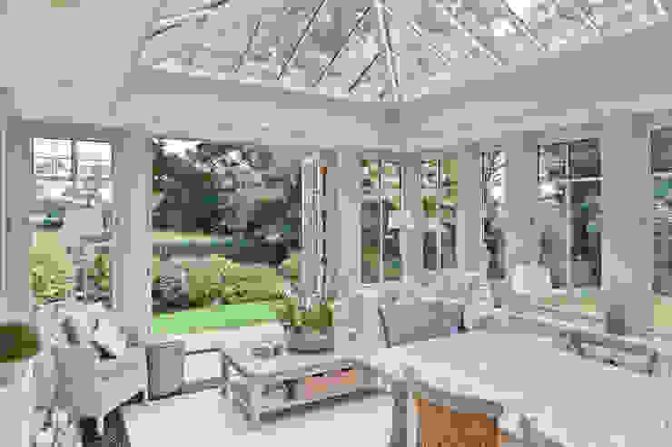 Interesting Orangery with Dentil Moulding Vale Garden Houses Konservatori Klasik Kayu Beige