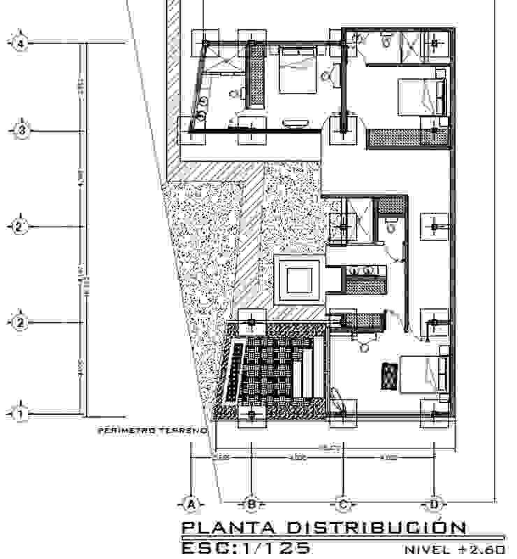 Casa ZEN Cuartos de estilo moderno de Arquitecto Eduardo Carrasquero Moderno Concreto