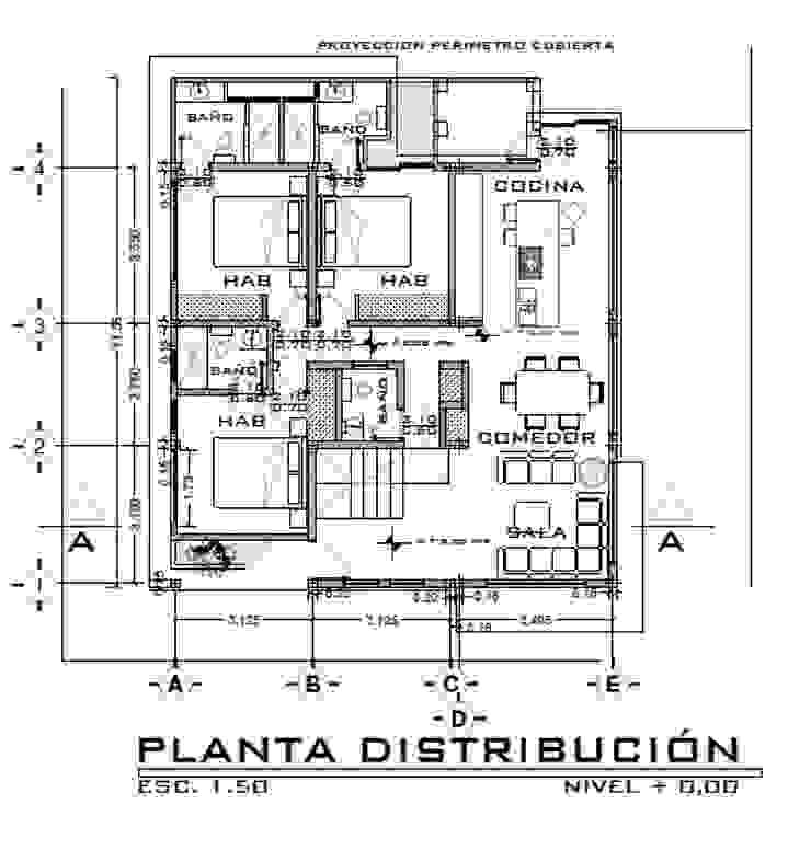 Casa LOBO Arquitecto Eduardo Carrasquero Comedores de estilo moderno Cerámico