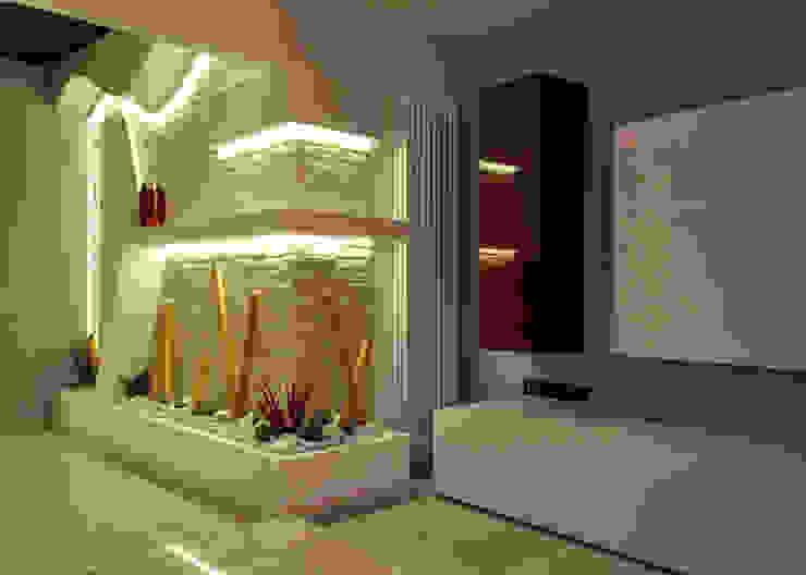Officina design Couloir, entrée, escaliers modernes Pierre