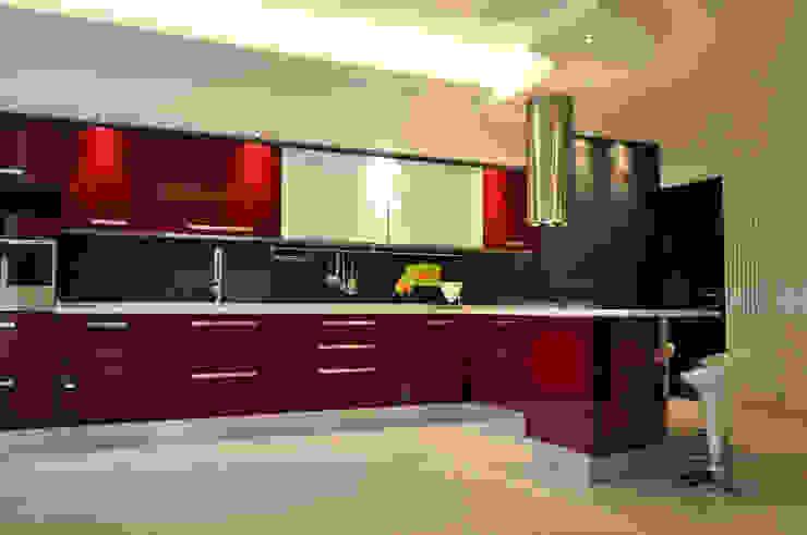 Officina design Cuisine moderne Rouge