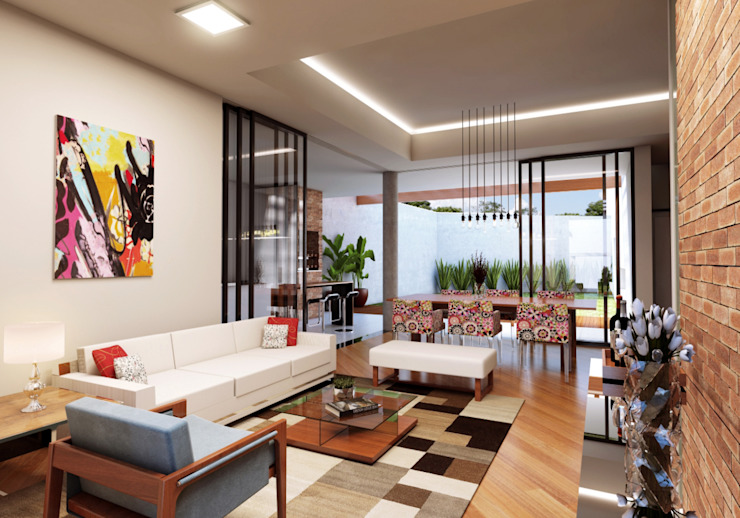 Salas / recibidores de estilo  por Lozí - Projeto e Obra, Moderno