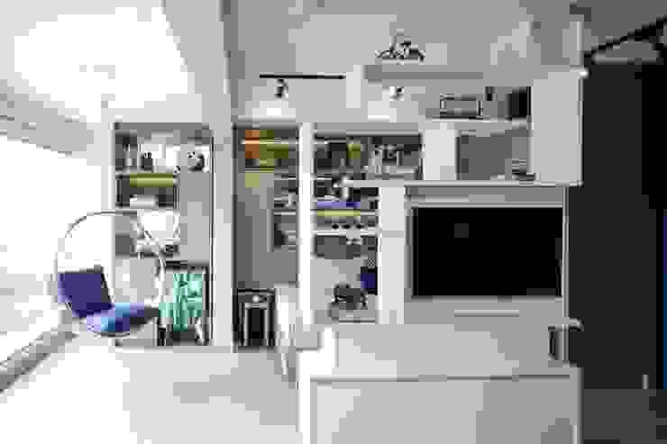 Michelle Machado Arquitetura 客廳 MDF Grey