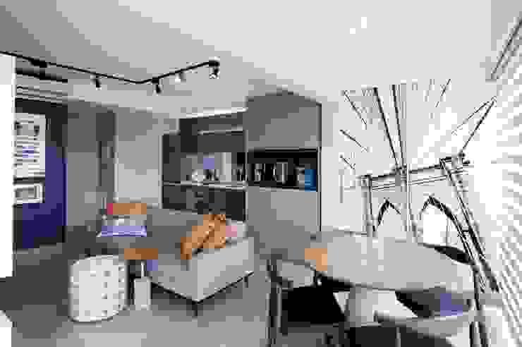 Michelle Machado Arquitetura 餐廳 水泥 Grey