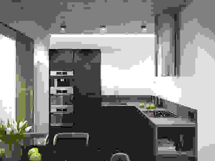 Küche von Y.F.architects, Minimalistisch